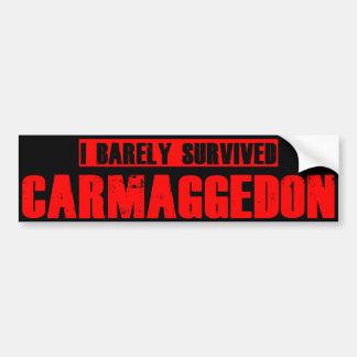 Carmageddon Etiqueta De Parachoque