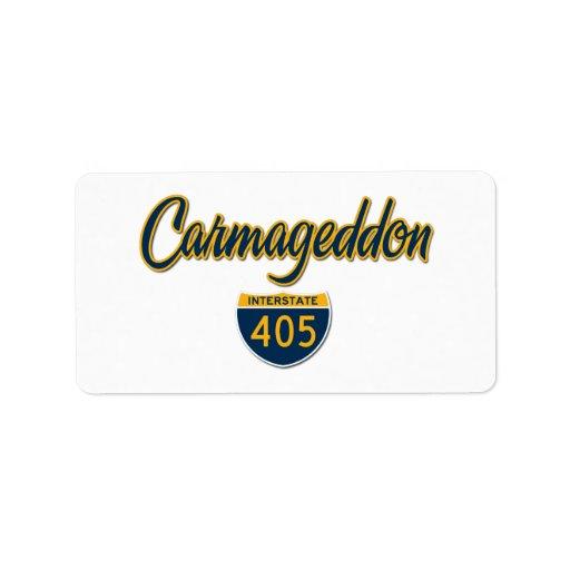 Carmageddon Etiquetas De Dirección