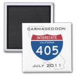 Carmageddon - julio de 2011 imán para frigorífico