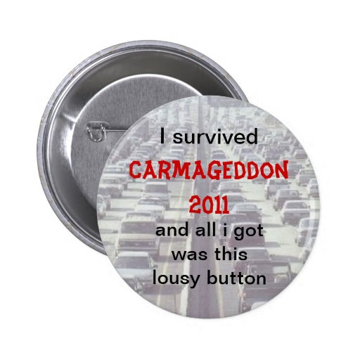 Carmageddon Pin Redondo De 2 Pulgadas