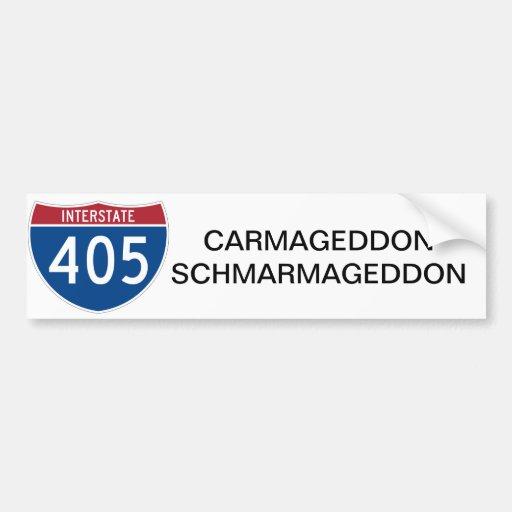 CARMAGEDDON SCHMARMAGEDDON BUMPER STICKER CAR BUMPER STICKER