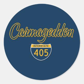 Carmageddon Classic Round Sticker