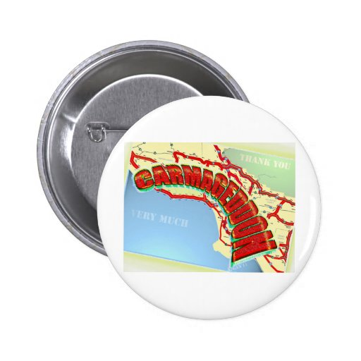 Carmageddon Will Los Angeles Freeways be the same? 2 Inch Round Button