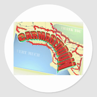 Carmageddon Will Los Angeles Freeways be the same? Classic Round Sticker