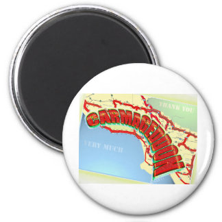 Carmageddon Will Los Angeles Freeways be the same? Fridge Magnets