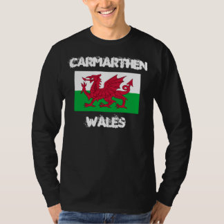 Carmarthen, Wales with Welsh flag T-Shirt