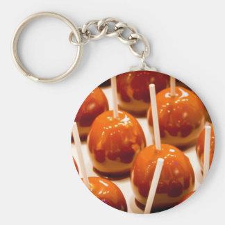 Carmel Apple Basic Round Button Keychain