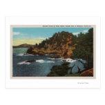 Carmel, CA - costa rugosa en el punto Lobos Postales