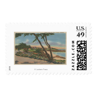 Carmel, CA - Homes along The Shore View Stamps