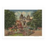 Carmel, CA - misión San Carlos De Borromeo Postal