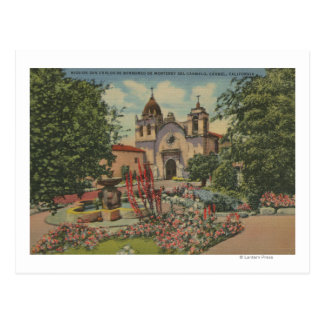 Carmel, CA - Mission San Carlos De Borromeo Postcard