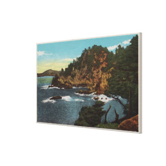 Carmel, CA - Rugged Coast on Point Lobos Gallery Wrap Canvas