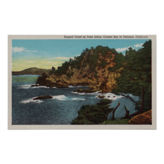 Carmel, CA - Rugged Coast on Point Lobos Poster