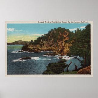 Carmel, CA - Rugged Coast on Point Lobos Posters