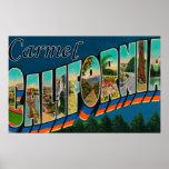 Carmel, California - Large Letter Scenes Poster
