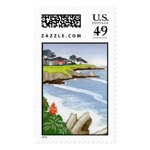 Carmel Coast Postage Stamp