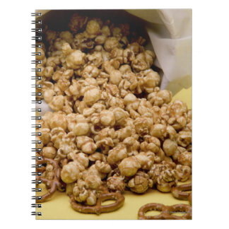 Carmel Corn and pretzels Spiral Notebook