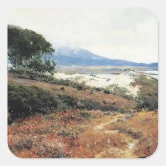 Carmel Dunes by Guy Rose Square Sticker