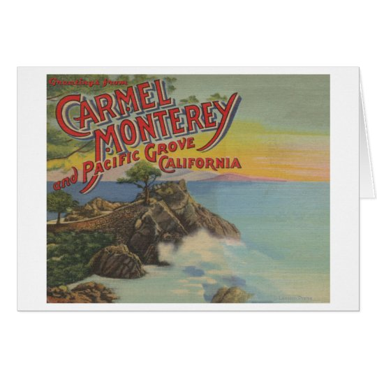 Carmel, Monterey, & Pacific Grove, CA - Welcomes Card