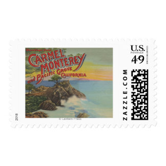Carmel, Monterey, & Pacific Grove, CA - Welcomes Postage