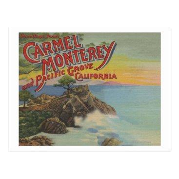 LanternPress Carmel, Monterey, & Pacific Grove, CA - Welcomes Postcard
