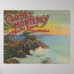 Carmel, Monterey, y arboleda pacífica, CA - recepc Póster