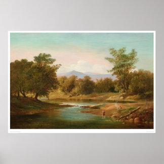 Carmel River Scene (0236A) Poster