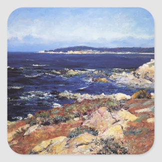 Carmel Seascape by Guy Rose Square Sticker