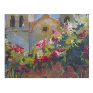 Carmel Spanish Mission California Garden Post Card