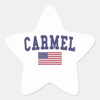 Carmel US Flag Star Sticker