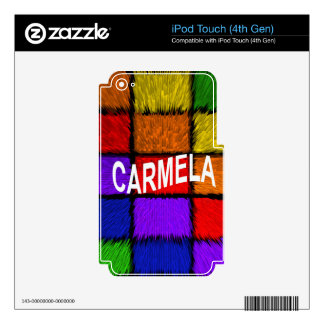 CARMELA iPod TOUCH 4G DECALS