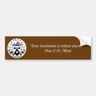 Carmelite Rule Bumper Sticker