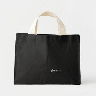 Carmen black canvas bag