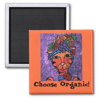 Carmen, Choose Organic! 2 Inch Square Magnet