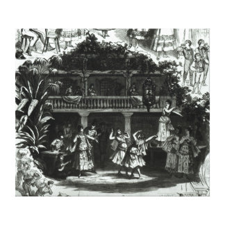 Carmen in the Lilas Pastia tavern Canvas Print