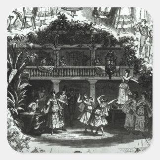 Carmen in the Lilas Pastia tavern Square Sticker