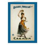 Carmen, la ópera 1896 tarjeton