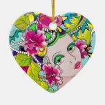 Carmen Mardi Gras Girl Ornament