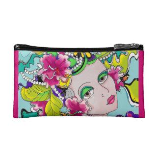 Carmen Miranda Style Girl Mardi Gras Makeup Bag