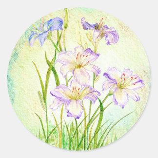 Carmen Renee Day Lilies Classic Round Sticker