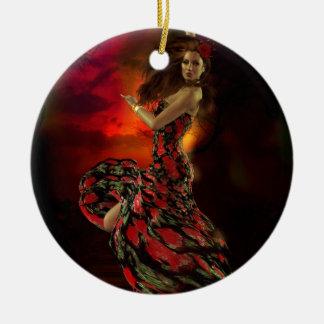 Carmen the Spanish Dancer Ceramic Ornament