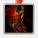 Carmen the Spanish Dancer Christmas Ornaments