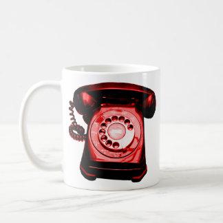 Carmesí de la línea directa taza de café