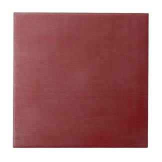 Carmesí de lino cepillado de //de la textura azulejo cuadrado pequeño