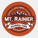 Carmesí del Monte Rainier Etiqueta Redonda