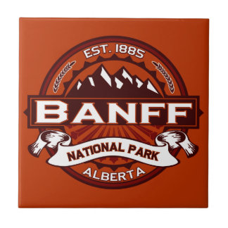 Carmesí del parque nacional de Banff Azulejo Cuadrado Pequeño