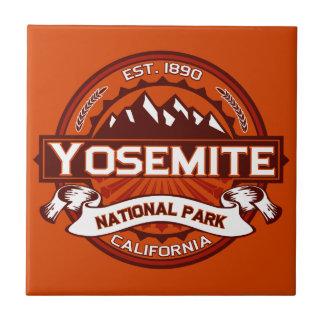 Carmesí del parque nacional de Yosemite Azulejo Cuadrado Pequeño