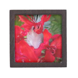 """Carmesí extranjero hermoso 2"""" caja de regalo cajas de joyas de calidad"""