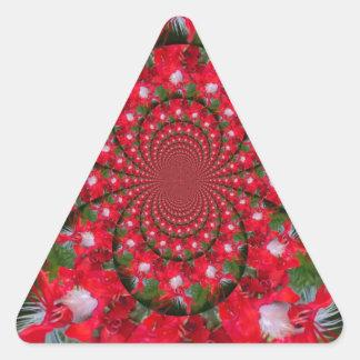 Carmesí extranjero precioso pegatina triangular