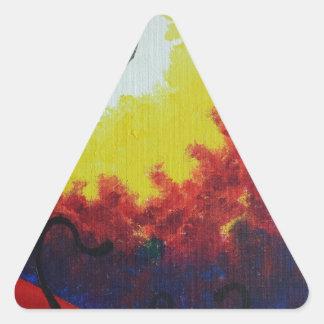 Carmesí Colcomanias De Triangulo